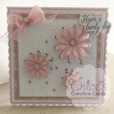 Cut and Emboss by Chloe Folder & Dies Blooming Daisies - - Cut and Emboss by Chloe - Chloes Creative Cards Paper Cards, Diy Cards, Chloes Creative Cards, Stamps By Chloe, Cool Birthday Cards, Diy Birthday, Daisy Petals, Crafters Companion Cards, Craft Stash