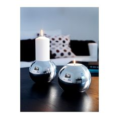 $7.99 NÄSSJÖ Candle holder IKEA Dual function; one side is suitable for a block candle and the other for a tealight.