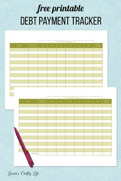 Debt Payment Tracker. 31 days of free printables to get your home life organized. Today's printable is a debt payment tracker. Add it to your planner or home management binder.