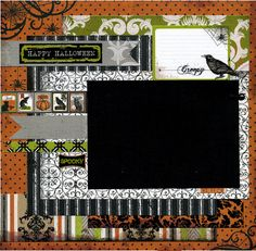 Oh Boy Premade Scrapbook Page by SusansScrapbookShack on Etsy