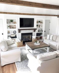 46 best cozy living room with fireplace of all types 43 - Warm Home Decor Living Room With Fireplace, Small Living Rooms, Living Room Sets, Living Room Furniture, Living Room Designs, Living Room Decor, Cozy Fireplace, Modern Living, Couch Furniture