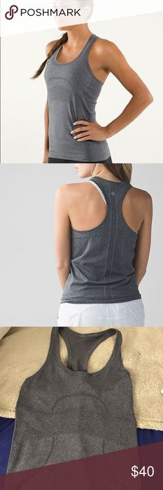 Lululemon Swifty Tank Lululemon swifty tank heathered grey size 4. Excellent condition. lululemon athletica Tops Tank Tops