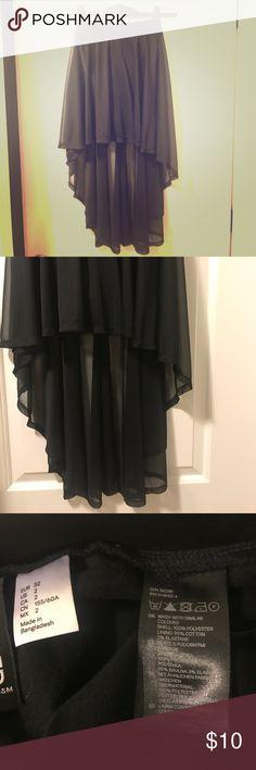 H&M Black High Low Skirt Black skirt H&M Skirts High Low