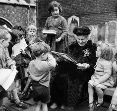 Maria Montessori a Smithfield, Londra, nel 1951. - Popperfoto/Getty Images