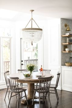 Loving these gray dining chairs... could I paint ours??? Yep, I could.
