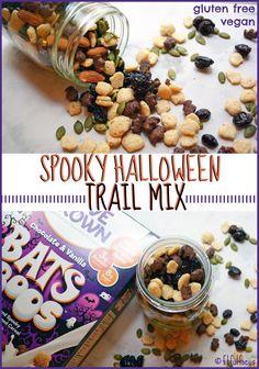 Spooky Halloween Trail Mix   Vegan   Gluten Free   Healthy Halloween Recipes   Healthy Halloween Party Snacks   Love Grown Foods   Cute Halloween Recipes   Meatless Monday   Allergy Friendly