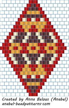 Schemes of earrings, rhombs - Mosaic / brick- free peyote earrings patterns Peyote Stitch Patterns, Seed Bead Patterns, Beading Patterns, Seed Bead Jewelry, Seed Bead Earrings, Beaded Earrings Patterns, Peyote Beading, Bijoux Diy, Beaded Jewelry