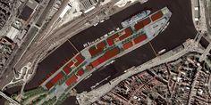 Stedenbouwkundig plan voor de herstructurering van een voormalige havenpier tot gemengd stedelijk gebied met een nieuw waterfront tegenover de 'Altstadt' (Unesco Werelderfgoed), i.o.v. Hanzestadt Lübeck en DCP Projectontwikkeling (eerste prijs internationale prijsvraag, 2009)