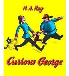 George, a small African monkey, is taken from his jungle home to live in a big city Zoo. Along the way, sailors save him from the sea, angry firemen put him in jail, and stolen balloons fly him high above the city — all because he is a curious little monkey!   E REY