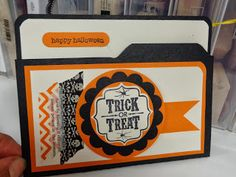 """Stamp with Susie: I am FINALLY home.....and sharing with you a cute """"Halloween Treats"""" class card!"""