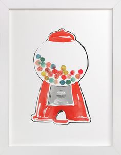 Gumball Machine by Kelly Ventura at minted.com