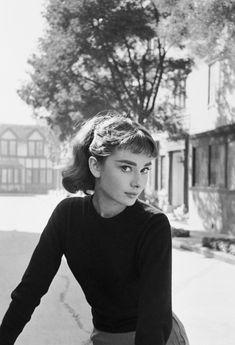 Audrey Hepburn on the set of'Sabrina', 1953. Photo by Mark Shaw.