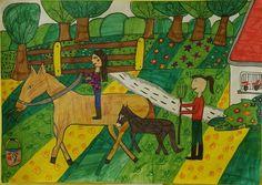 Kids Rugs, Painting, Home Decor, Art, Craft Art, Room Decor, Painting Art, Kunst, Paintings