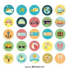Vacances d'été graphismes plats Vecteur gratuit