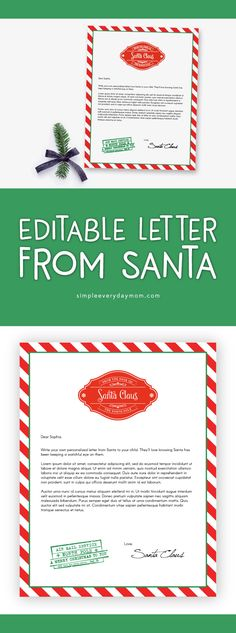 Letter From Santa Christmas Letter Santa Letter Gift Idea For