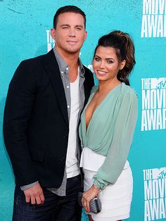 Channing Tatum and wife, Jenna Dewan @ the MTV movie awards red carpet.