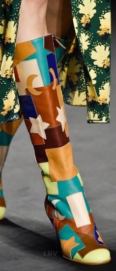 Patchwork Boots: Anna Sui, Spring 2015 | LBV A14 ♥✤