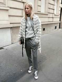 all grey street style