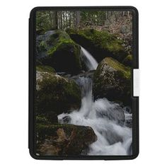 Kindle Paperwhite Leather Cover Spring Waterfall
