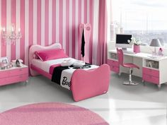 Beautiful Barbie themed room for your little girl