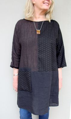 Ola Tunic Top Pattern - Patterns - Tessuti Fabrics - Online Fabric Store - Cotton, Linen, Silk, Bridal & more