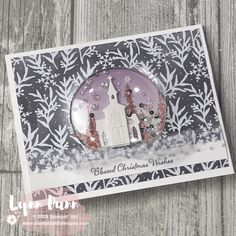 Still Scenes Snow Globe Shaker Card Create some simple snow globe shaker cards with the Still Scenes stamp set. These snow globes are absolutely stunning with any stamp set or patterned paper. Christmas Gift Card Holders, Homemade Christmas Cards, Christmas Tree Cards, Stampin Up Christmas, Xmas Cards, Christmas 2019, Christmas Stars, Diy Christmas, Holiday