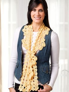Crochet - Primavera Scarf - #EC01060