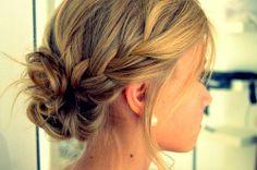 Low loose bun braid