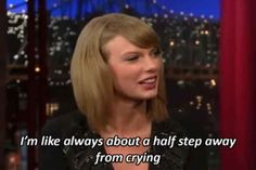 Taylor is you when you see a particularly adorable cat video on the internet.