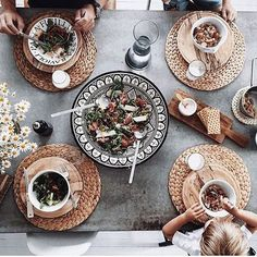 Moroccan Meal - 25 Thanksgiving Tablescapes We Can't Wait To Try - Lonny Moroccan Plates, Moroccan Table, Modern Moroccan, Moroccan Design, Moroccan Decor, Moroccan Interiors, Tabletop, Moroccan Restaurant, Thanksgiving Tablescapes
