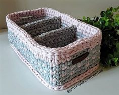 Crochet basket and wicker lessons for novices Puff Stitch Crochet, Crochet Bowl, Crochet Basket Pattern, Crochet Teddy, Crochet Patterns, Crochet Baskets, Crochet Organizer, Crochet Storage, Crochet Hat For Beginners