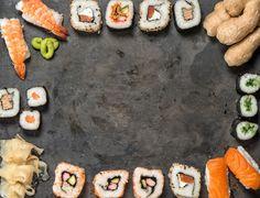 Sushi rolls, nigiri, maki sushi by LiliGraphie on @creativemarket
