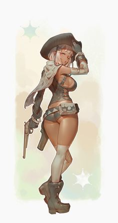 ArtStation - Gunslinger Girl Rear, Tim Löchner