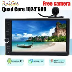 HD 1024X600 7 INCH Universal 2Din 2 din Car DVD Radio Player GPS Navigation Android 5.1 Quad Core 16G Flash FREE MAP