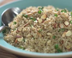 You searched for quinoa with almonds - Ellie Krieger Healthy Menu, Healthy Cooking, Cooking Recipes, Quinoa Recipes Easy, Healthy Recipes, Healthy Foods, Vegetarian Recipes, Ellies Real Good Food, Mexican Quinoa Salad