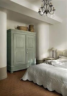 Master bedroom - mediterranean - bedroom - other metro - Décoration et provence Awesome Bedrooms, Beautiful Bedrooms, Mediterranean Bedroom, Painted Armoire, Master Bedroom, Bedroom Decor, My New Room, Cheap Home Decor, House Design