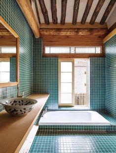 decorating the house Bathroom Interior Design, Interior Design Living Room, Japanese Bathroom, Space Interiors, Cafe Interior, Traditional House, Bathroom Inspiration, Interior Architecture, New Homes