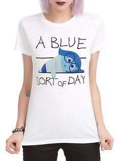 Disney Inside Out Blue Sort Of Day Girls T-Shirt 3XL | Hot Topic