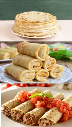 Crepes, Mexican Food Recipes, Healthy Recipes, Ethnic Recipes, Special Recipes, Sans Gluten, Food And Drink, Meals, Dinner