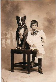 Young Boy and his trusted sidekick the #pitbull