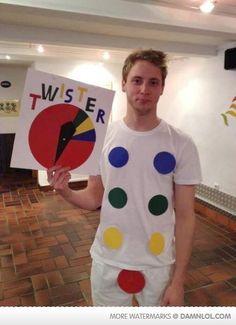 Wanna Play Twister?  Ok, I'll admit it: I laughed.  lol