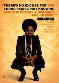 Nina Simone - badass women of history Black History Quotes, Black History Facts, Art History, Black Quotes, Ancient History, Jon Stewart, Jack Kerouac, Robin Williams, Mark Twain