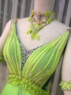 dance costume stone work
