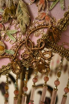 vintage lighting..... Very Interesting intricate details and beads...Vintage Fabrics