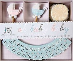 Meri Meri Baby Oh Baby Cupcake Kit >>> This is an Amazon Affiliate link. To view further for this item, visit the image link.