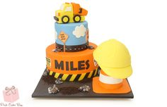 Boys Construction Themed Cake