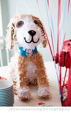 Puppy pinata for a puppy themed birthday party