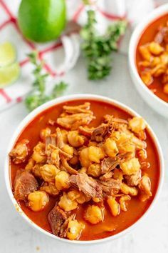 New Mexico Posole Recipe Pozole Rojo Food Folks and Fun Authentic Mexican Recipes, Menudo Recipe Authentic, Mexican Soup Recipes, Beef Recipes, Mexican Dishes, Mexican Desserts, Freezer Recipes, Drink Recipes, Hominy Recipes