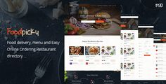Foodpicky - Online food ordering from local restaurants - Restaurants directory - PSD by codenpixel  Foodpicky,online food ordering system for local restaurants. Browse local restaurants delivery, menus, ratings and reviews, coupons and more. Food ordering online. Bootstrap 1170px grid used. PSD filesHome page Search results Re