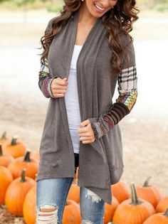 Shop Grey Contrast Sleeve Plaid Coat online. SheIn offers Grey Contrast Sleeve Plaid Coat & more to fit your fashionable needs.
